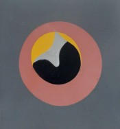 """Untitled, from """"Le Soleil Recerclé"""" (Pink Eye in Grey Square)"""