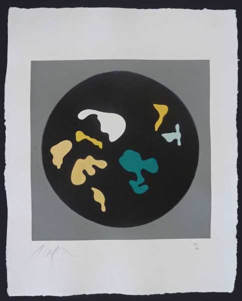 Hans Arp, Untitled, from Le Soleil Recerclé (Black Circle Small Shapes), 1962/1965