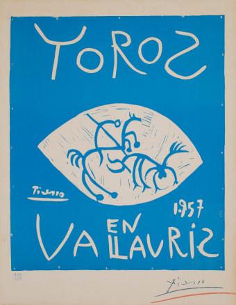 Toros en Vallauris 1957 by Pablo Picasso