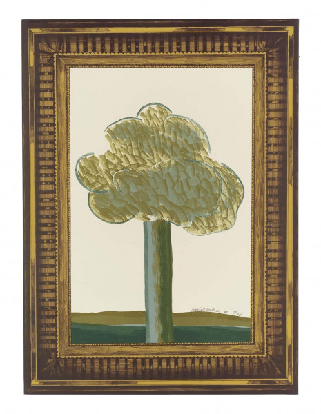 David Hockney, A Picture of a Landscape in an Elaborate Gold Frame, 1965