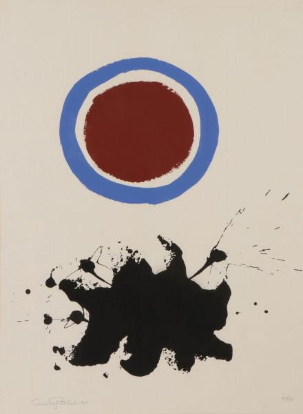 Adolph Gottlieb, Blue Halo, 1972