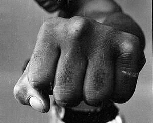 Ali Left Fist, London by Thomas Hoepker
