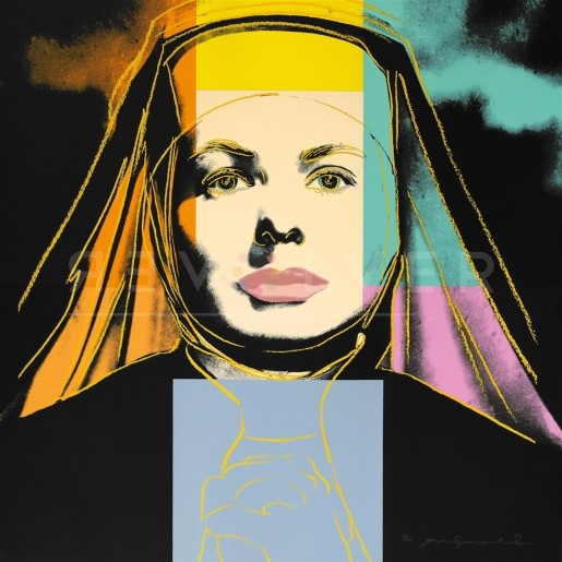 "Andy Warhol, The Nun (FS II.314), from the Portfolio ""Ingrid Bergman"", 1983"