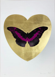 I Love You - Gold Leaf/Black/Fuchsia