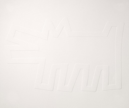 Keith Haring, White Icons - Barking Dog, 1990
