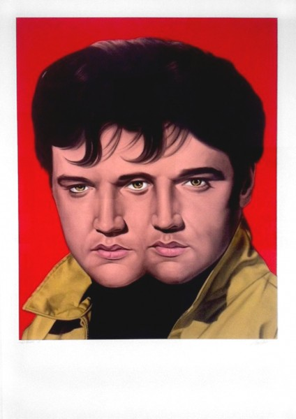 Ron English, Red Elvis, 2012