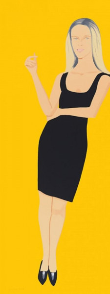 Alex Katz, Black Dress 6 (Yvonne), 2015