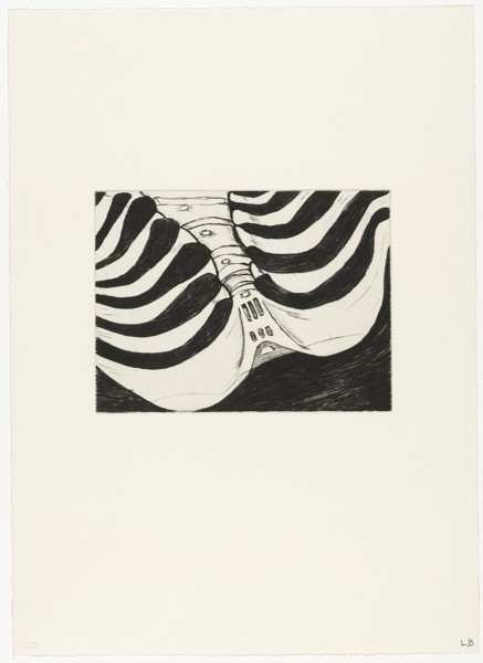 "Louise Bourgeois, Untitled (no. 5 of 12), from the portfolio ""Anatomy"", 1989"