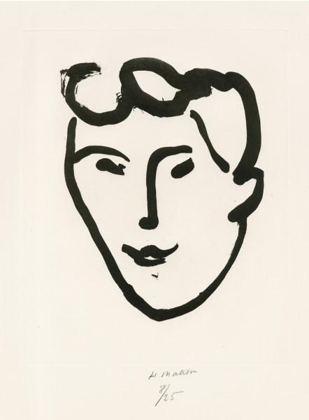 Henri Matisse, Masque aux rouleaux, 1948