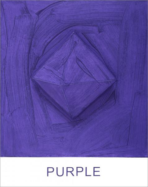 John Baldessari, Eight Colorful Inside Jobs: Purple, 2017