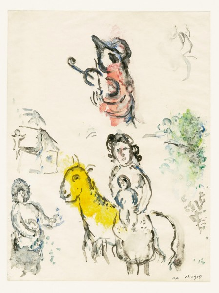 Marc Chagall, Le coq violoniste, 1974