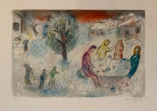 Marc Chagall, Daphnis et Chloe: The Meal at Dryas' House, 1961