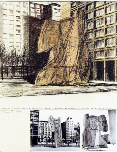 Christo, Wrapped Sylvette, Project for Washington Square Village, New York, 1973/1974