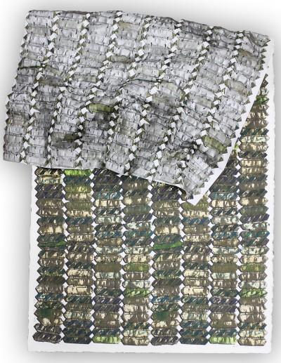 Green variation by El Anatsui