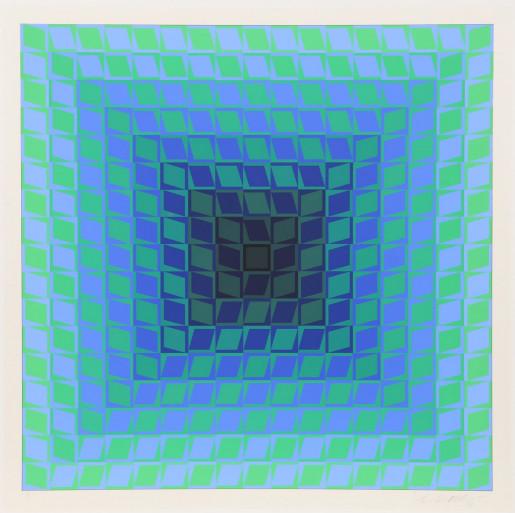 Victor Vasarely, CTA - Blue 2, ca. 1968
