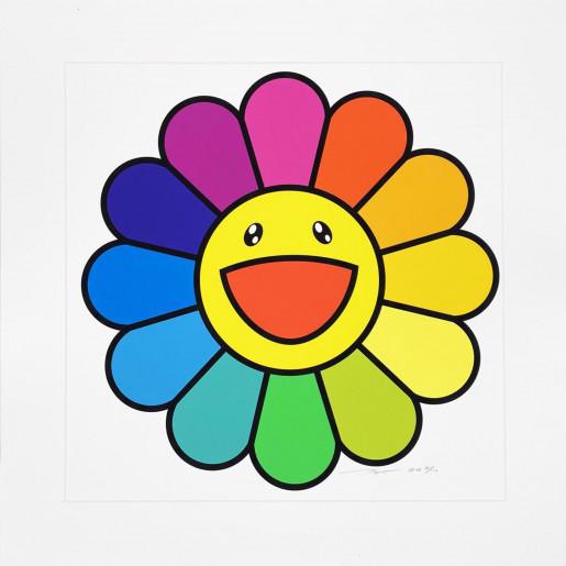 Takashi Murakami, Smile on, Rainbow Flower, 2020