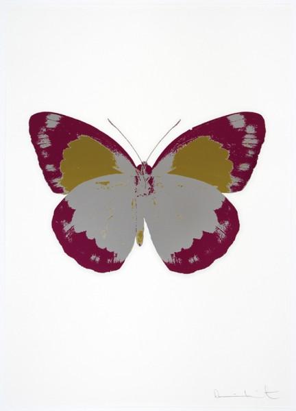 Damien Hirst, The Souls II - Silver Gloss/Fuchsia Pink/Oriental Gold, 2010