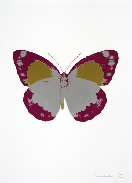 Damien Hirst, The Souls II - Silver Gloss/Fuchsia Pink/Oriental Gold, 2010