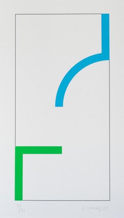 Sans Titre (Bleu/Vert) by Gottfried Honegger
