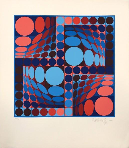 Victor Vasarely, Thez II, 1980