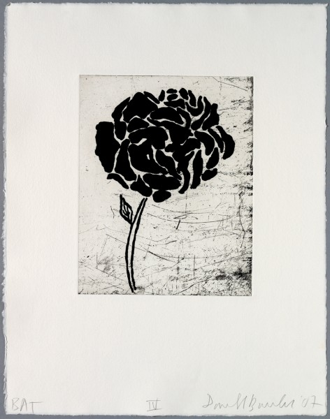 Donald Baechler, Five flowers IV, 2007