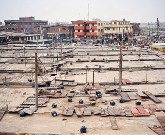 Generators on roofs of Oshodi Market, Lagos, Nigeria by Julian Röder