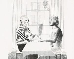 Artist and Model by David Hockney