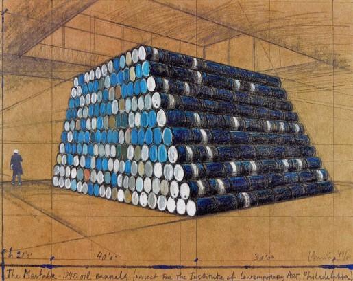 Christo, Philadelphia Mastaba, 1998