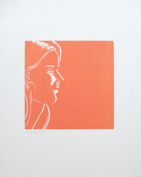 Alex Katz, Pink Kym, 1995