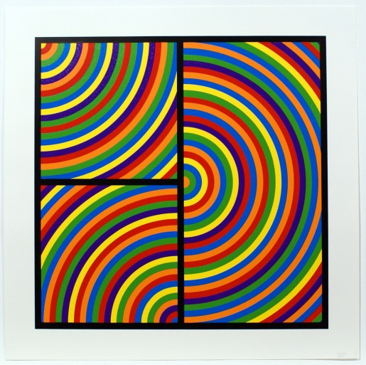Sol LeWitt, Bands of Equal Width in Colour 8, 2000
