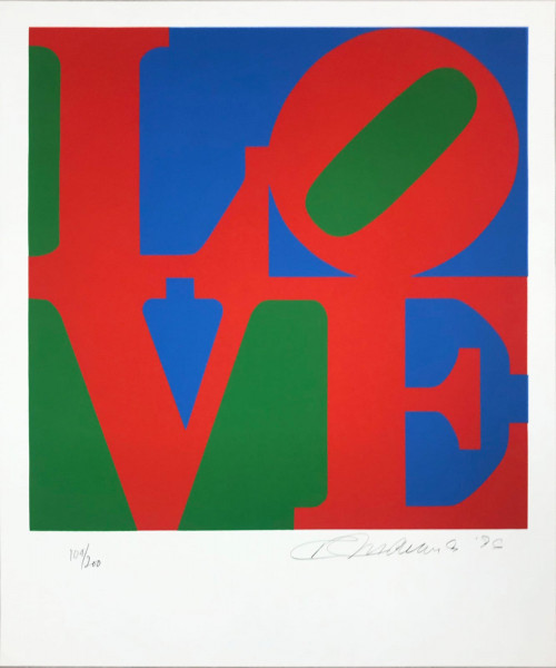 Robert Indiana, The Book of Love 12, 1996