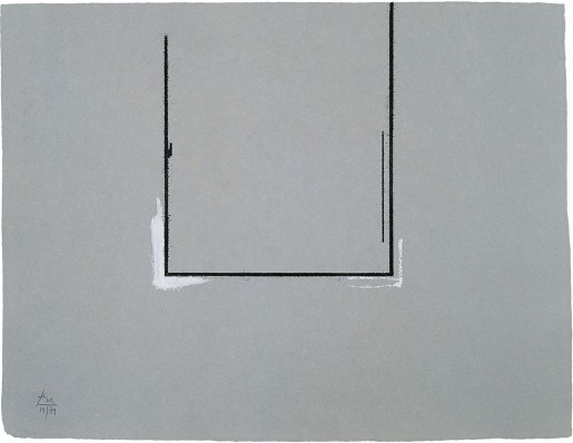 Robert Motherwell, Gray Open with White Paint, 1981