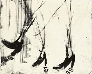 Sono sei piedi by Georg Baselitz