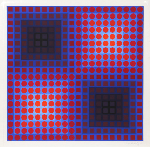 Victor Vasarely, Untitled from Permutations (Squares), 1968