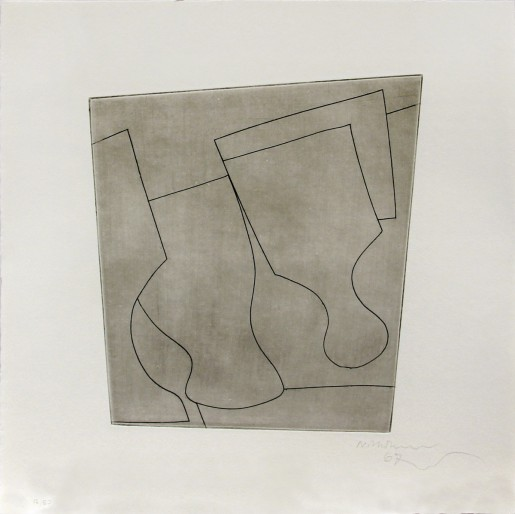 Ben Nicholson, two & a half goblets, 1967
