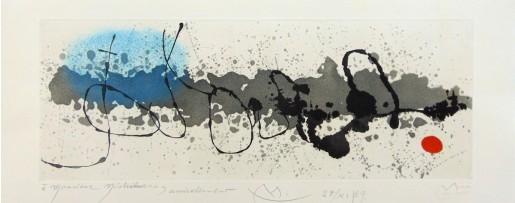 Joan Miró, Traces on Water   Tracé sur l'eau, 1963