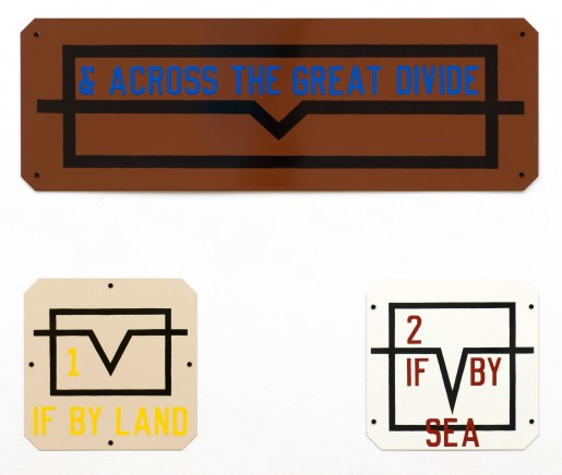 Lawrence Weiner, & Across the Great Divide, 1991