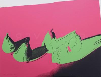 """Andy Warhol - Pears (FS II.203), from the Portfolio """"Space Fruit: Still Lifes"""""""