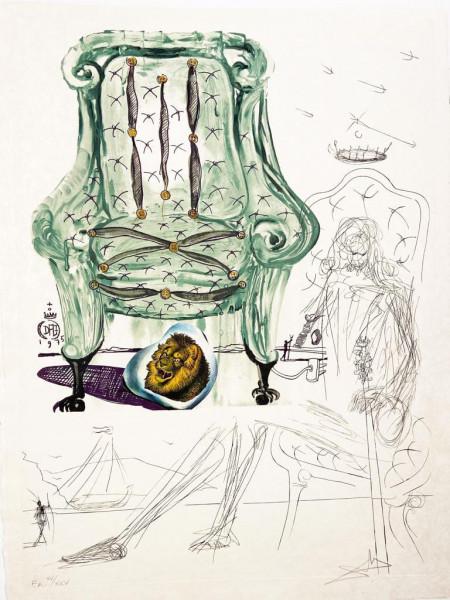 Salvador Dalí, Breathing Pneumatic Chair, 1975-1976