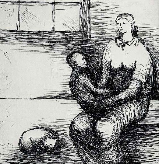 Henry Moore, Mother and Child IX, 1983