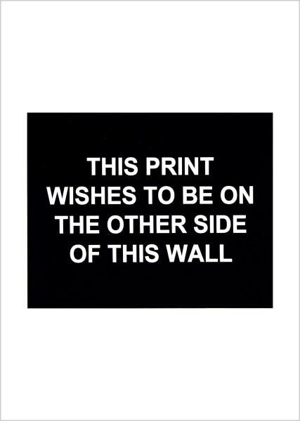 Laure Prouvost, This print wishes to be on the other side of this wall, 2016