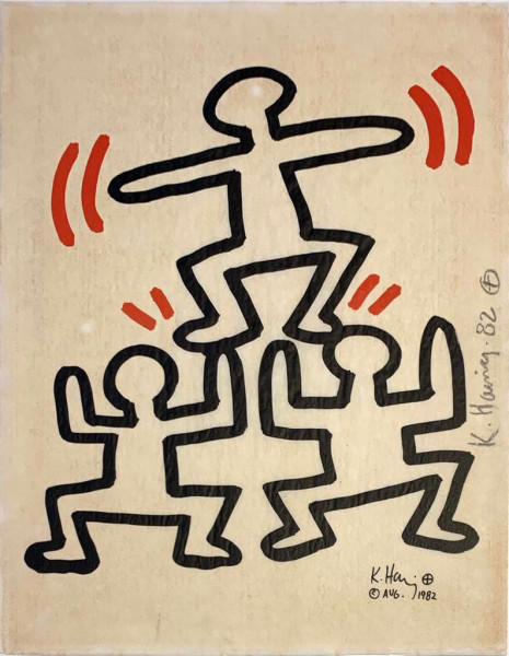 Keith Haring, Bayer Suite #4, 1982
