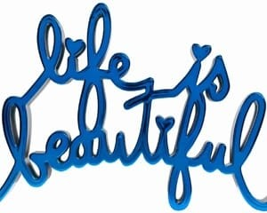 Life is Beautiful - Hard Candy Blue by Mr. Brainwash
