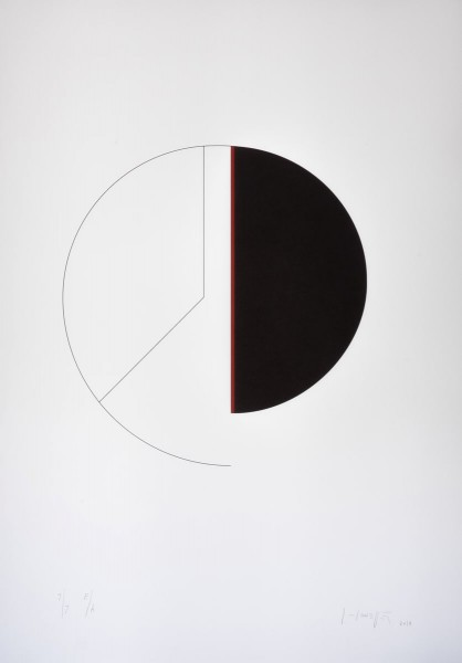 Gottfried Honegger, Cercle/Verticale, 2014