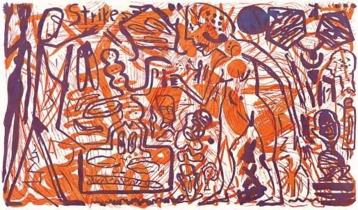 A.R. Penck, Strike, 1985