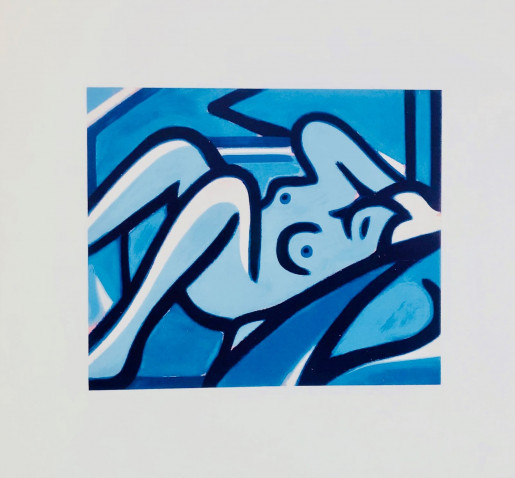 Tom Wesselmann, Blue Nude, 2000