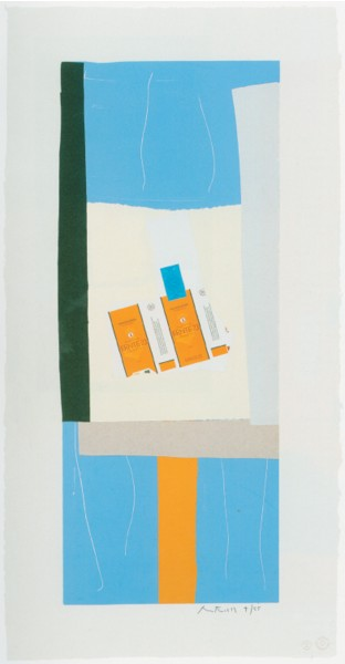 Robert Motherwell, Summer Light Series: Harvest with Orange Stripe, 1973