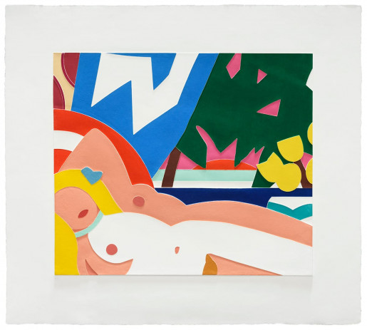 Tom Wesselmann, Sunset Nude with Yellow Tulips, 2004-2006