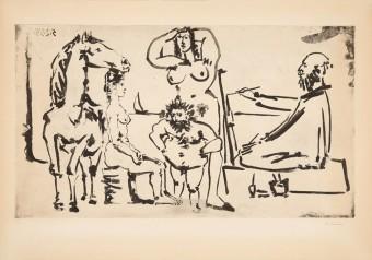 Le peintre sur la plage by Pablo Picasso