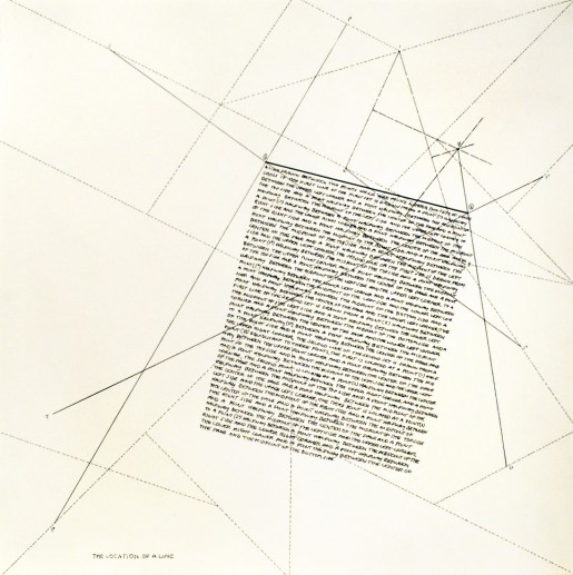 Sol LeWitt, The Location of Lines. The Location of a Line., 1975